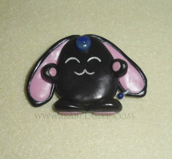 Mokona black brooch inspired